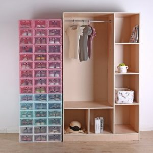 2019-Clear-Foldable-Plastic-Drawer-Storage-Shoe